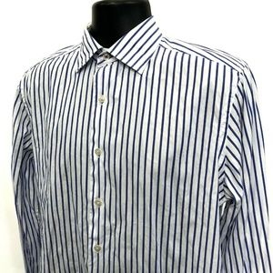 SAKS Fifth Avenue Shirt Mens Size M Medium Striped